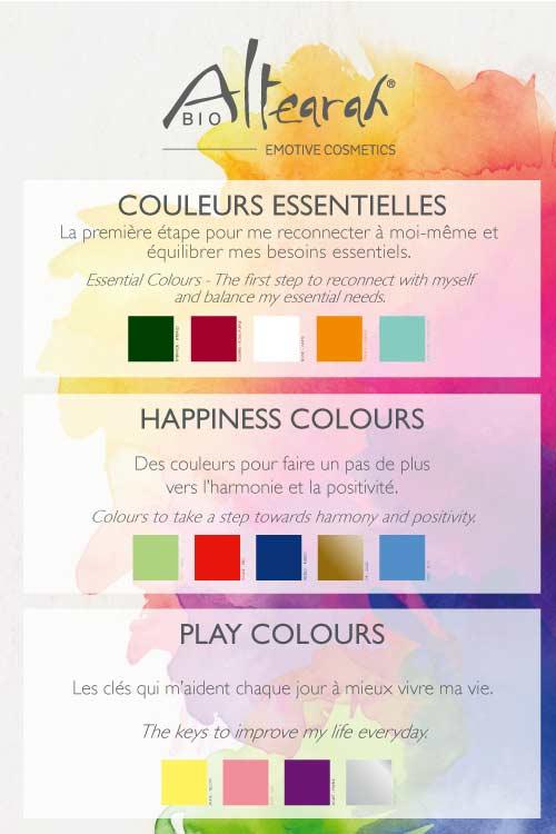 couleurs essentielles altearah